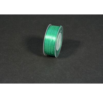szatén szalag  3 mm x 50 m sötét zöld