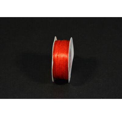 szatén szalag  3 mm x 50 m piros