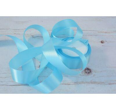 Szatén-szalag dekorációs 25 mm  baba kék