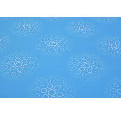 Csomagolópapír - kék karikás