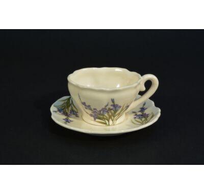 Levendula mintás kávés csésze alátéttel
