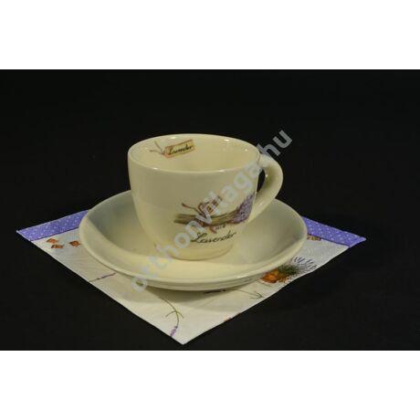 levendulás kávés csésze
