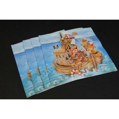 maci kalózok parti szalvéta