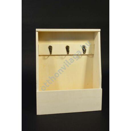 fali kulcstartó szekrény levéltartóval