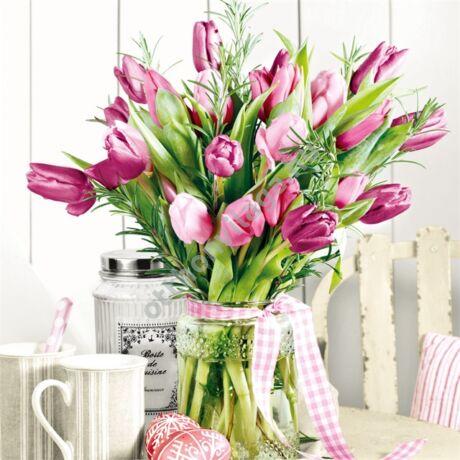 decoupage  tulipán szalvéta