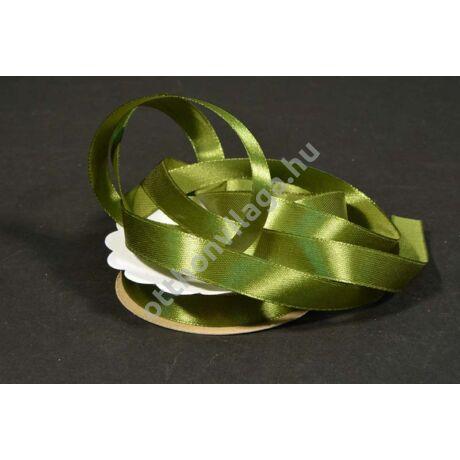 szatén szalag 12 mm oliva zöld