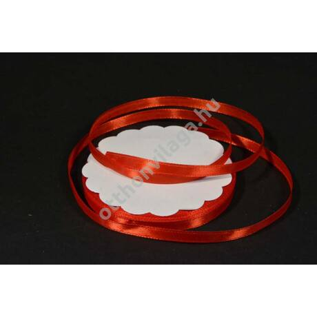 szatén szalag 6 mm x 22 m piros