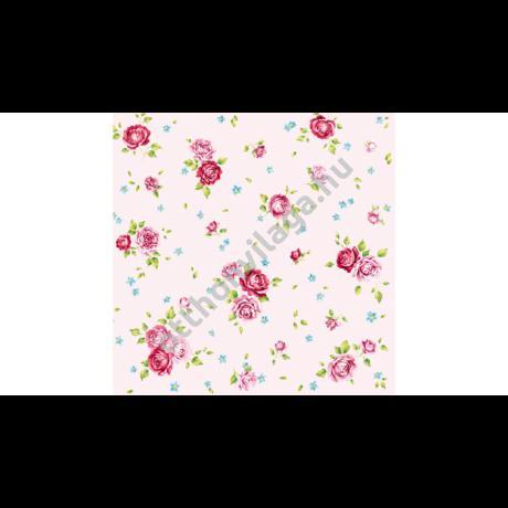 decoupage rózsás szalvéta